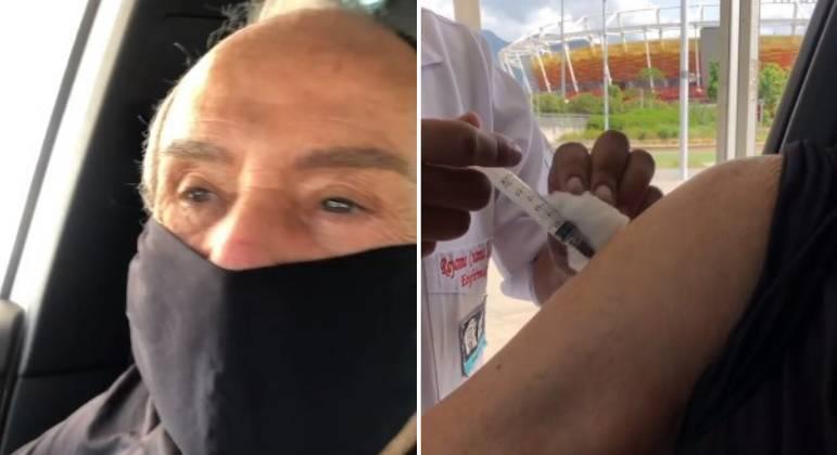 Stênio Garcia recebeu a segunda dose da vacina contra a covid-19