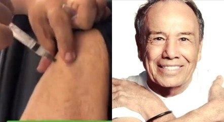 Artista veterano tomou a primeira dose da vacina