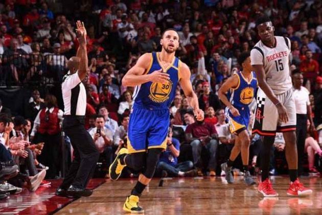Stephen Curry - Duas vezes MVP da NBA, ele é o melhor arremessador de todos os tempos na liga, com quase 2.500 cestas de três na carreira. Curry obteve médias de 25.3 pontos, 6.6 assistências e 4.5 rebotes naquela temporada