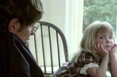 Stephen Hawking com a filha