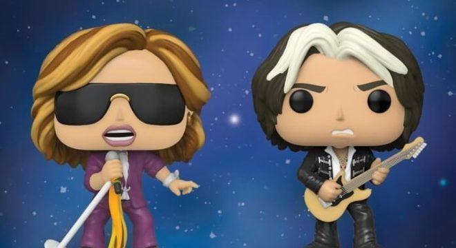 Steven Tyler e Joe Perry, do Aerosmith, em versões Funko