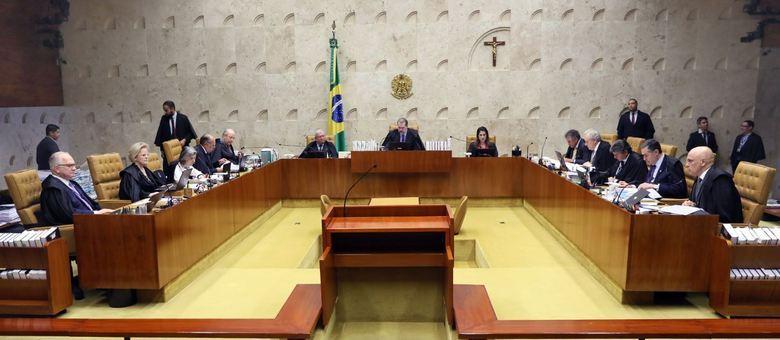 Plenário do STF; ministros retomam julgamento que pode beneficiar Lula