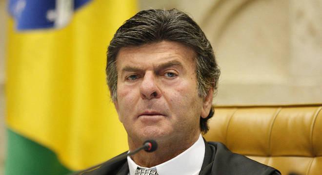 Na imagem, o ministro do STF Luiz Fux