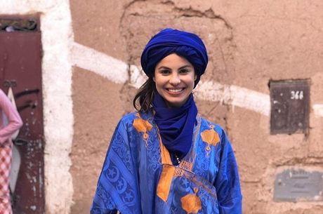 No Instagram, ela postou fotos da viagem ao Marrocos