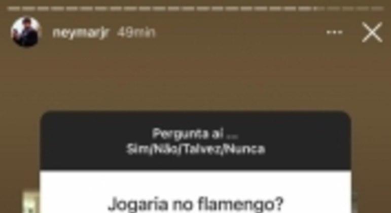 Story Neymar Flamengo