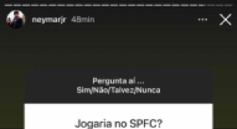 Story Neymar SPFC