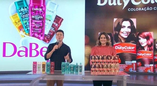 Rodrigo Faro apresenta os produtos DaBelle e DutyColor em ação de merchandising