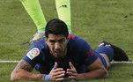Luís Suárez chegou à marca de 150 gols no Campeonato Espanhol neste sábado, ao abrir caminho para a dura vitória do Atlético de Madrid sobre o Celta de Vigo, por 2 a 0, fora de casa. Foi o terceiro gol do atacante uruguaio pelo clube de Madri
