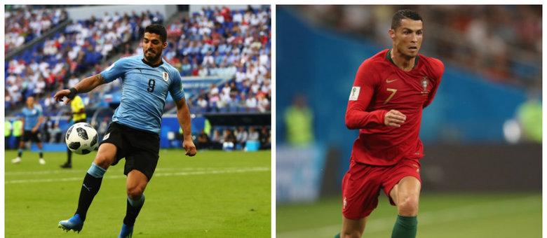 Luis Suárez e Cristiano Ronaldo serão dois dos destaques do jogo entre Uruguai e Portugal