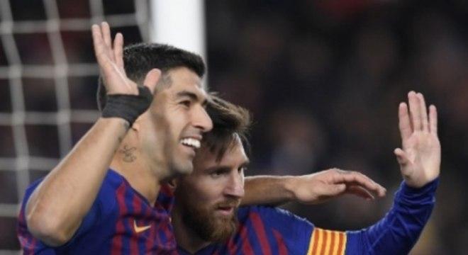 Suárez e Messi - Barcelona x Sevilla