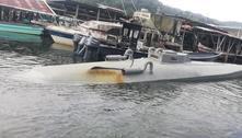 Submarino com 5 toneladas de drogas é interceptado no Panamá