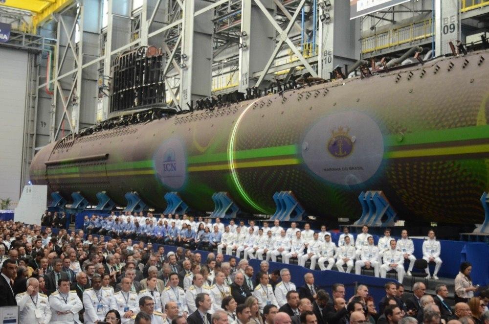 Cerimônia de integração do submarino Humaitá S-41 (SBR-2), no Rio