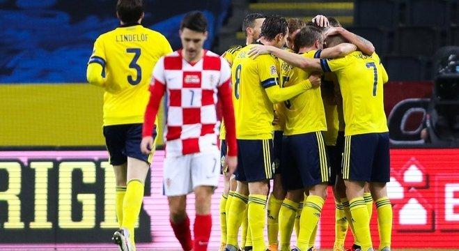 Alegria da Suécia, quase a salvação, e desalento da Croácia, 2 X 1 em Solna