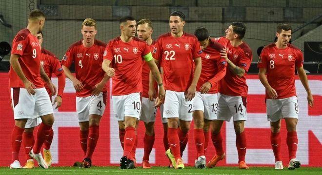 A comemoração da Suíça, excelente 3 X 3 na Alemanha