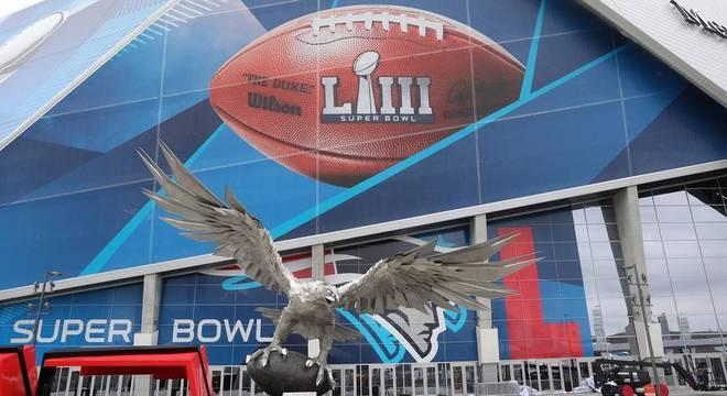 O estádio do Super Bowl, em Atlanta, no estado da Geórgia