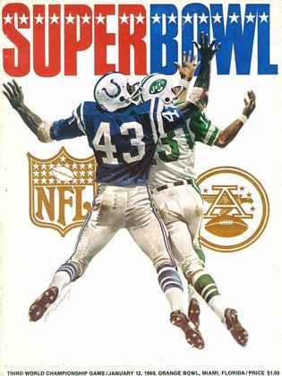 Super Bowl III - Novamente em Miami, o New York Jets derrubou o favorito Baltimore Colts por 16 a 7. Jogo que colocou Joe Namath na história nova-iorquina.