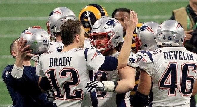 Super Bowl LIII: New England Patriots 13 x 3 Los Angeles Rams. Data: 03/02/2019. Local: Atlanta. Temporada 2018.