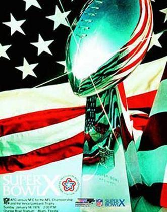 Super Bowl X - O triunfo por 21 a 17 sobre o Dallas Cowboys assegurou a segunda conquista de Super Bowl para o Pittsburgh Steelers.