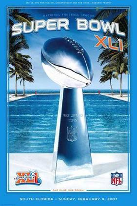 Super Bowl XLI - Peyton Manning colocaria o Indianapolis Colts no hall dos vencedores de Super Bowl com a vitória sobre o Chicago Bears, por 29 a 17, na ensolarada Miami.