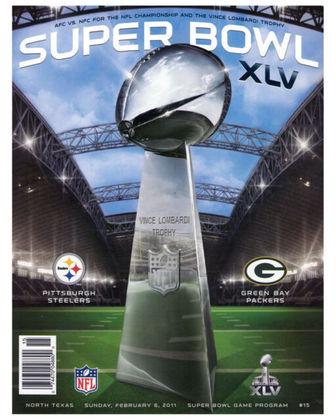Super Bowl XLV - Green Bay Packers e Pittsburgh Steelers, duas franquias históricas da NFL, decidiram o Super Bowl XLV. Packers 31, Steelers 25 foi o placar final. Quarta conquista de SB da tradicional equipe do Wisconsin.