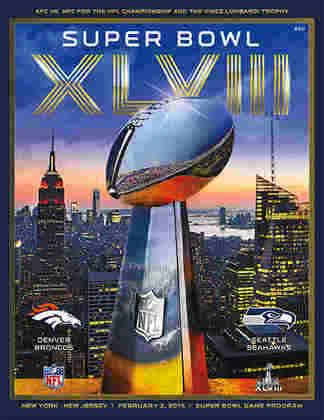 Super Bowl XLVIII - Pela primeira vez, o Super Bowl era decidido no Metlife Stadium, em Nova Jérsei. Com temperatura congelante, o Seattle Seahawks massacrou o Denver Broncos por 43 a 8.