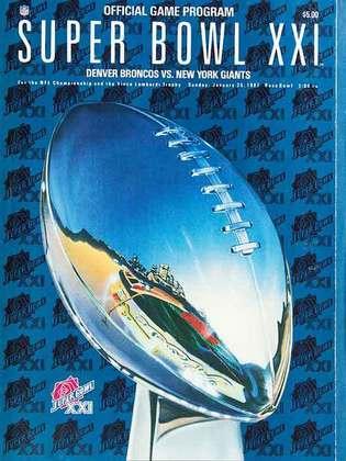 Super Bowl XXI - O New York Giants demorou para aparecer em um Super Bowl, mas garantiu seu primeiro anel ao não ter muitas dificuldades para vencer o Denver Broncos, por 39 a 20, no Rose Bowl.