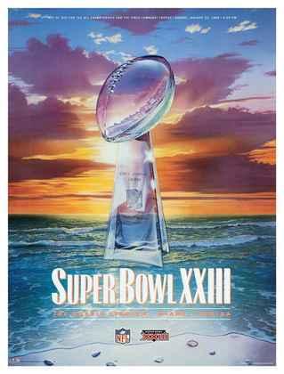 Super Bowl XXIII - Terceira ida ao Super Bowl, terceira conquista para o San Francisco 49ers, que superaram o Cincinnati Bengals por 20 a 16.