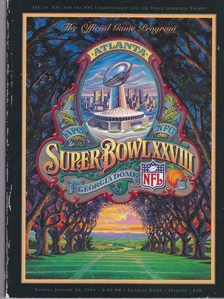 Super Bowl XXVIII - Em Atlanta, o Dallas Cowboys voltaria a derrotar o Buffalo Bills, por 30 a 13 desta vez. Quarta final consecutiva em que os Bills saem de campo com o gosto amargo do fracasso.