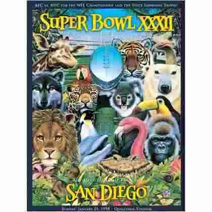 Super Bowl XXXII - Comandado por John Elway, o Denver Broncos entrou para a galeria dos campeões com o triunfo sobre o Green Bay Packers, por 31 a 24, em San Diego.