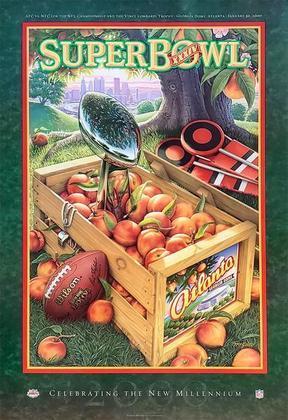 Super Bowl XXXIV - O Saint Louis Rams, sob a batuta de Kurt Warner, derrotou o Tennessee Titans por 23 a 16, em Atlanta.