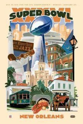 Super Bowl XXXVI - Nova Orleans foi o palco para o aparecimento da relação de Tom Brady com o Super Bowl. No final, o New England Patriots passou pelo Saint Louis Rams, por 20 a 17.