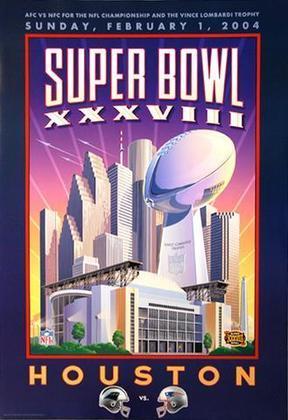 Super Bowl XXXVIII - Tom Brady de novo na decisão e outro título. O New England Patriots bateu o Carolina Panthers, 32 a 29, em Houston.