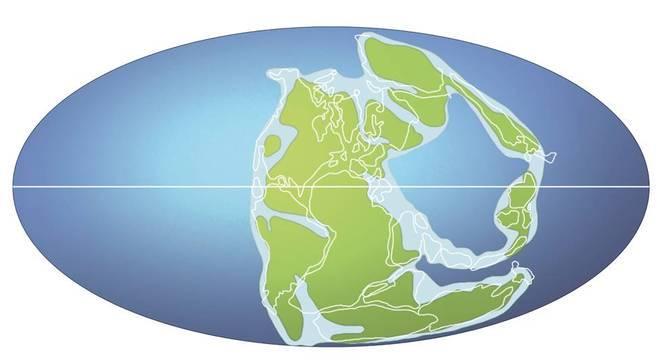 Há 258 milhões de anos, o supercontinente Pangeia ainda não havia sido dividido entre a Laurasia, ao norte, e Gondwana, ao sul