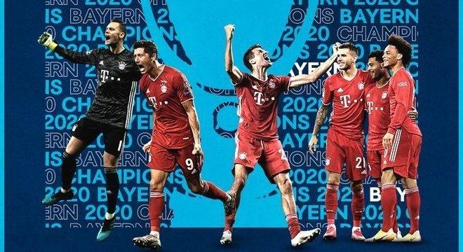 A homenagem da UEFA, no seu Twitter