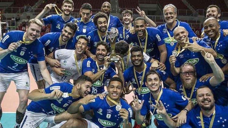 Superliga Masculina - Após o fim do primeiro turno em dezembro, o mês marcará o início do returno da competição. O Cruzeiro (foto) é o atual líder