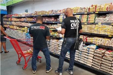 Polícia Civil fiscaliza supermercados de Belo Horizonte