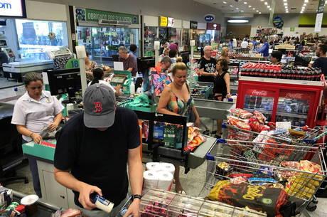 Fluxo nos supermercados cresceu devido ao coronavírus