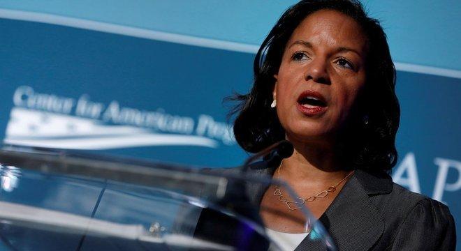 Susan Rice, em foto de 2017, aposta em suas credenciais na politica externa americana