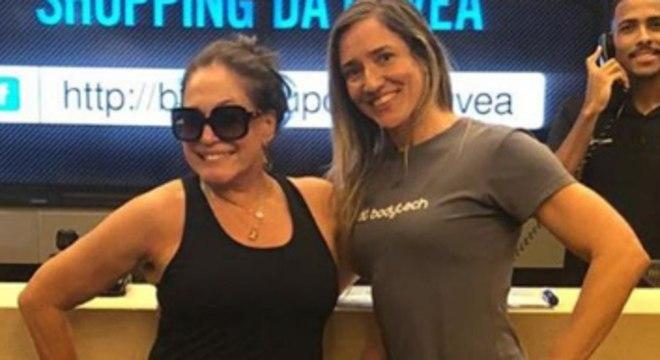 Susana Vieira e sua personal Ana Cristina Durão