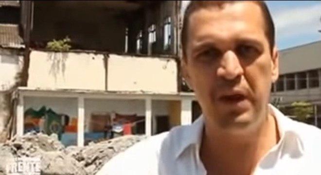 """No vídeo, Eduardo classifica a ação da prefeitura como """"fascista"""""""