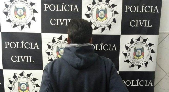 Suspeito foi detido na noite de terça-feira Crédito: Polícia Civil / Divulgação / CP