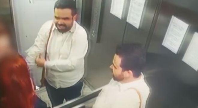 José Maria da Costa Júnior aparece sorrindo em filmagem dentro de elevador