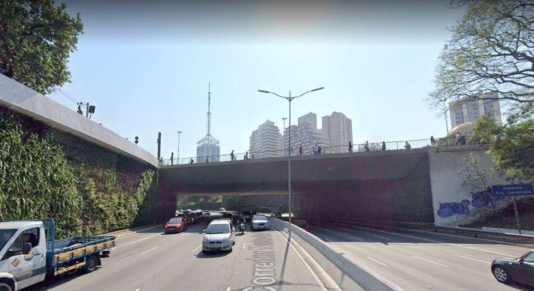 Suspeito foi parado no viaduto Santa Generosa