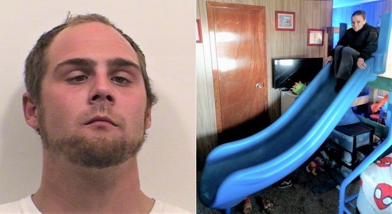 Homem de 30 anos foi acusado de furtar escorregador de 181 kg de um playground
