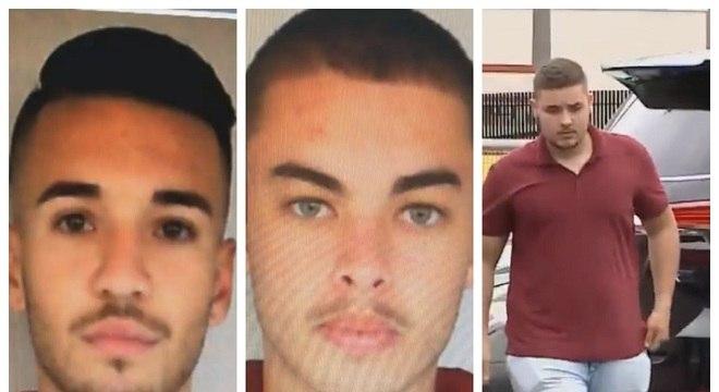 A Polícia divulgou as imagens de três suspeitos de participação no assassinato