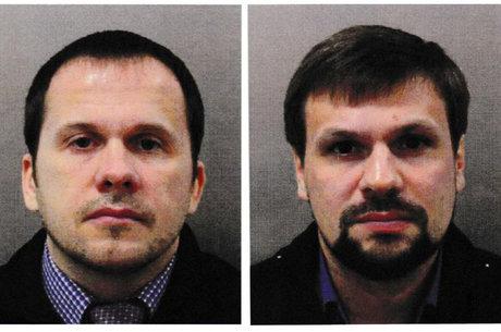 Alexander Petrov e Ruslan Boshirov estão foragidos