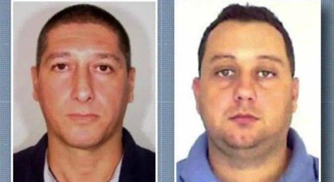 O PM reformado Ronnie Lessa (à esquerda) e o ex-PM Elcio Queiroz (à direita)