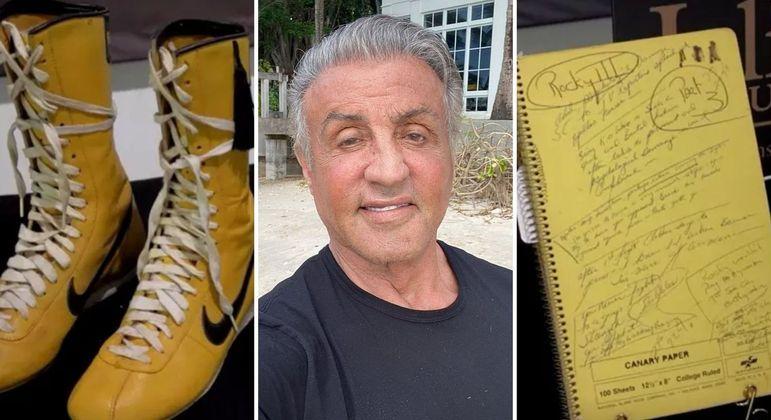 Itens de filmes de Sylvester Stallone vão a leilão em dezembro