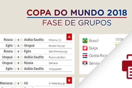 Tabela da Copa do Mundo de 2018