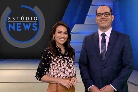 Foto: Tainá Falcão e Farley Ferreira no Estúdio News